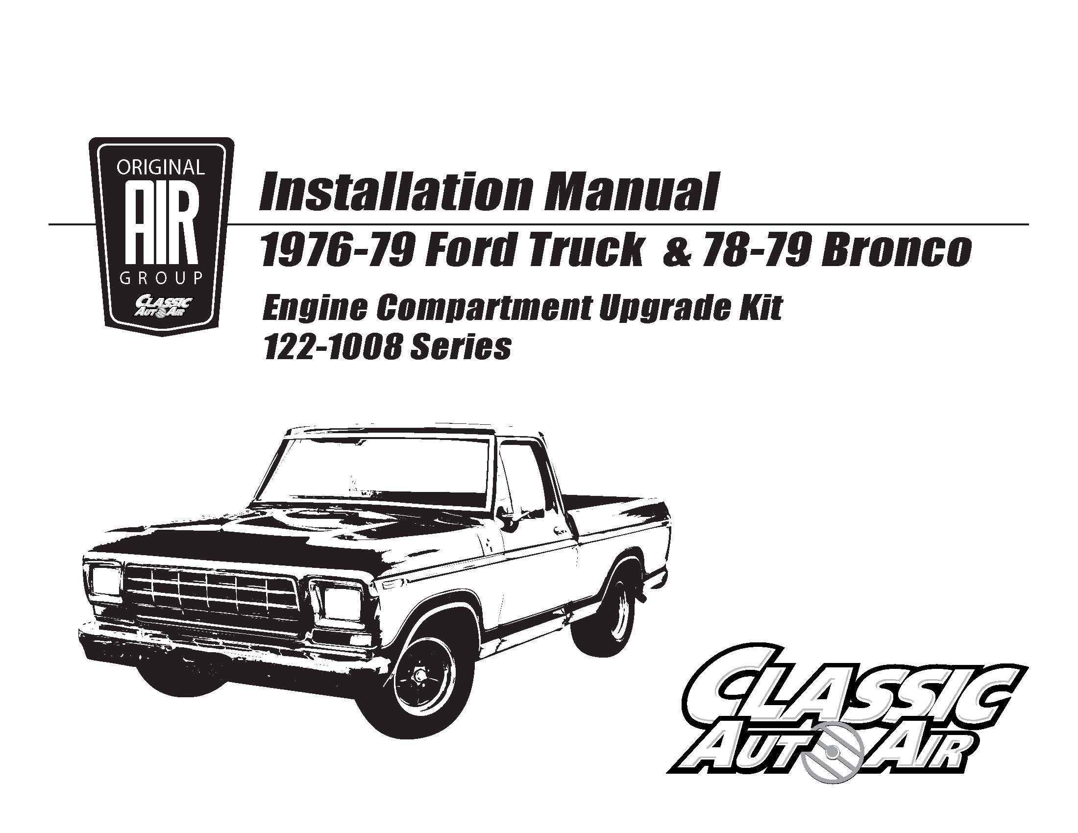 76 79 F Series Truck Bronco A C Upgrade Kit Stage 2