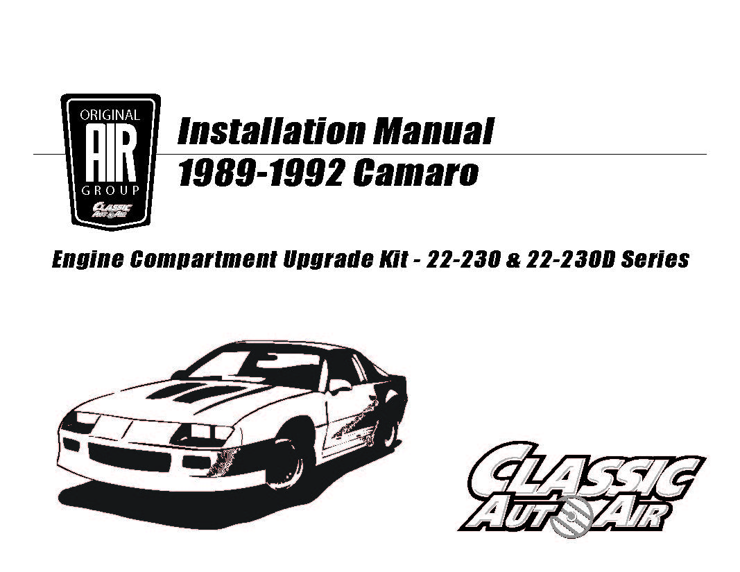 88 92 Camaro Firebird A C Performance Upgrade Kit V8 Stage