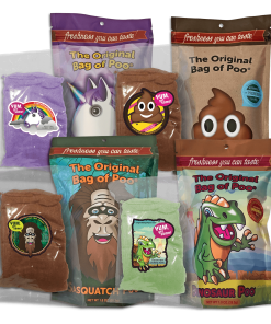 Build a bundle with The original bag of poo® The original bag of poo variety packs save 40% per bag when you buy 5 or more. So many great characters, colors and flavors.