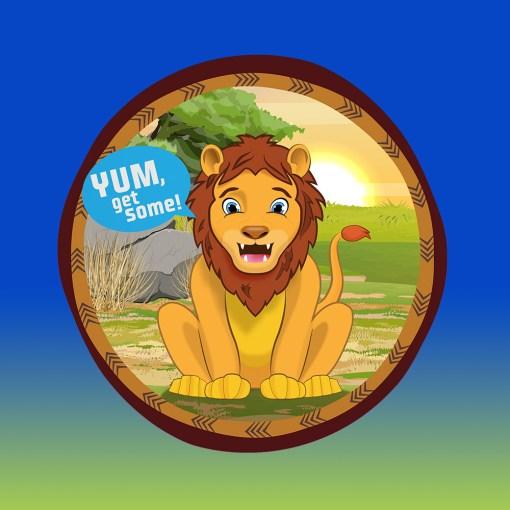 Original Bag Of Poo Product Lion Sticker