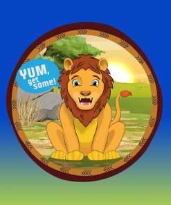 Original Bag Of Poo Product Lion Sticker