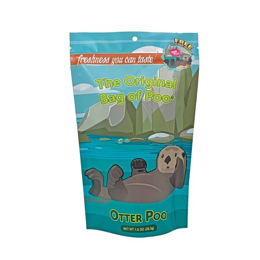 Time for a cuddle party! Grab a fresh bag of Otter Poo Cotton Candy and hug it tight embrace the fresh, light and fluffy pad of poo. Its a sensation like no other as it melts in your mouth. So, Whether it's in the wild or in an aquarium or zoo, Otter Poo - The Original Bag of Poo Orange Flavored Cotton Candy is always a treat. It's the perfect gag gift for any age and for all those special occasions when you need a few laughs.