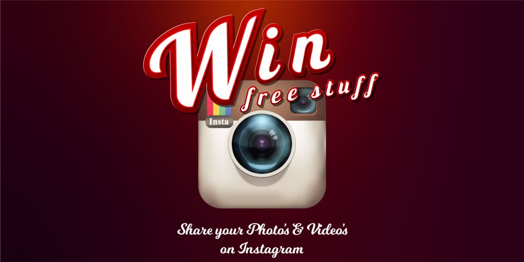 win free stuff, share your photos and videos on instagram. New winners every month.