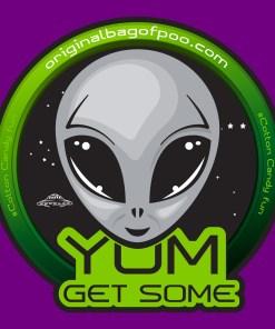 Original Bag Of Poo Product Alien Sticker