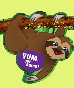 Original Bag Of Poo Product Sloth Sticker