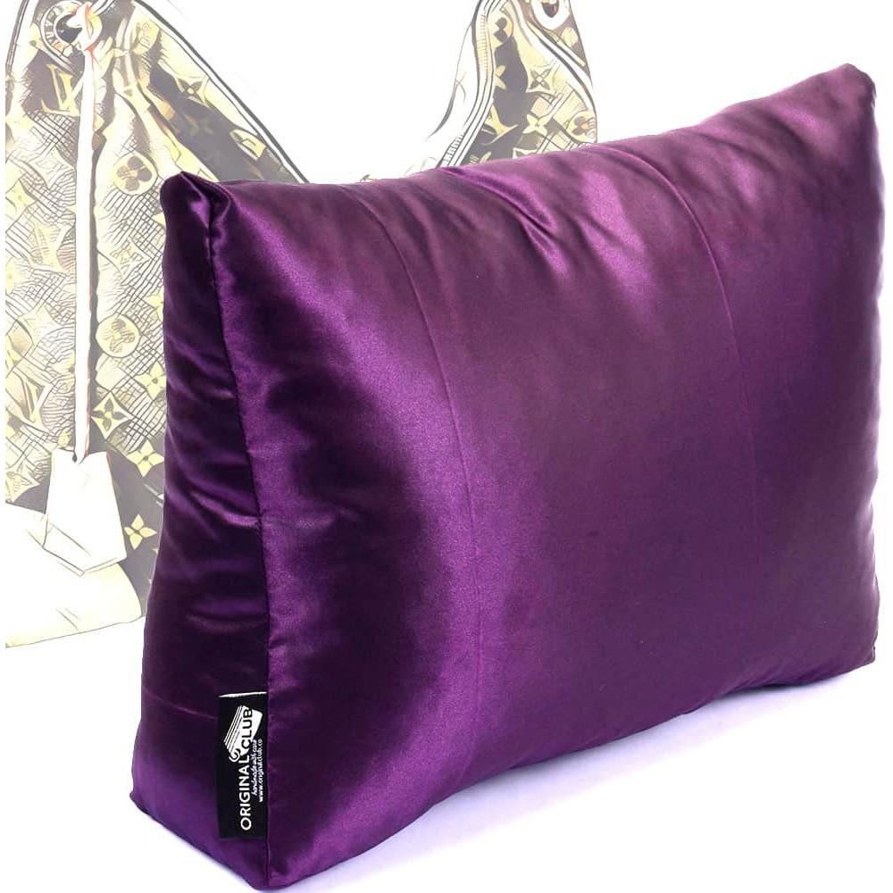 satin pillow luxury bag shaper for louis vuitton berri pm mm plum more colors available
