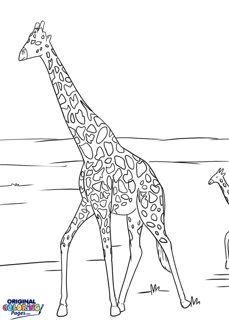 Giraffes In Africa Coloring Page Coloring Pages