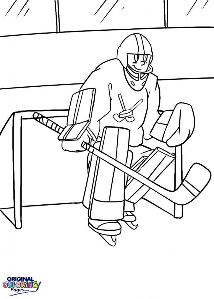 Hockey Goalie Coloring Page Coloring Pages Original