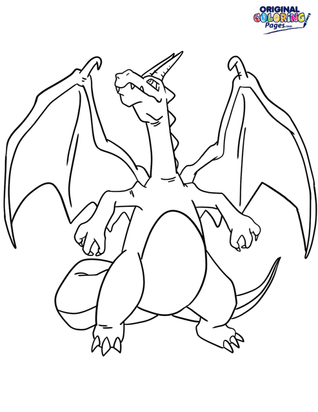 Charizard Pokemon Coloring Page  Coloring Pages - Original