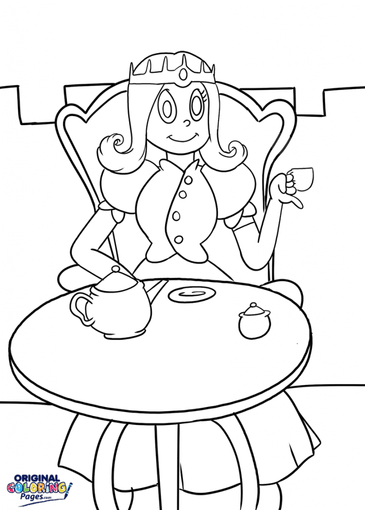 princess tea party coloring page – coloring pages