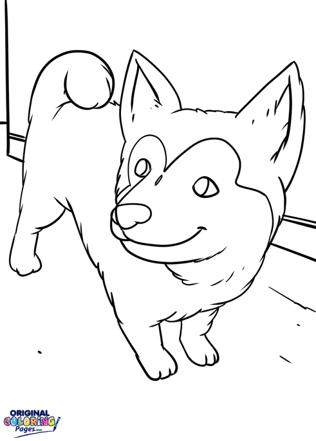 Puppy Husky Coloring Page  Coloring Pages - Original Coloring Pages