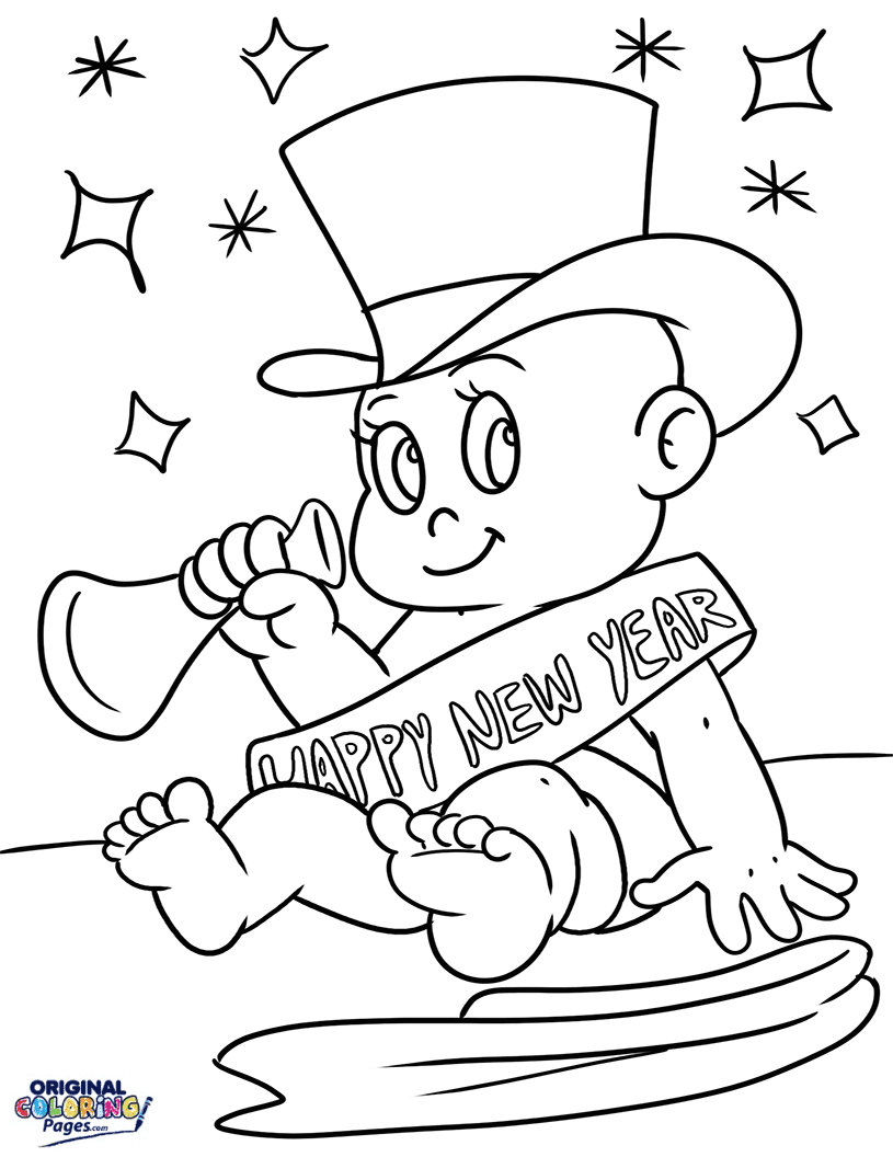 New Years Coloring Pages Original Coloring Pages
