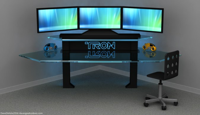 TRON Gaming Desk     Dave s Geeky Ideas TRON Gaming Desk