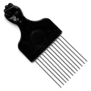peigne afro Black Fist African