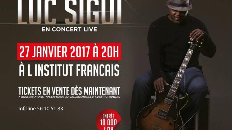 L'ivoiro-jazz est de retour avec l'artiste ivoirien Luc Sigui qui se produira ce samedi 27 janvier 2017 à l'IFCI