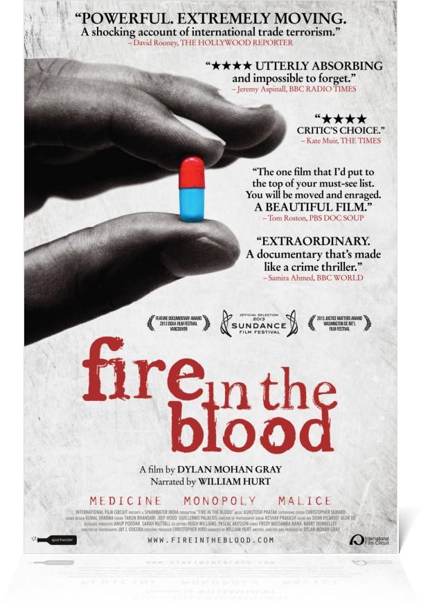 Fire in the Blood de Dylan Mohan Gray projeté ce mercredi 25 janvier 2017 à 15h à l'IFCI