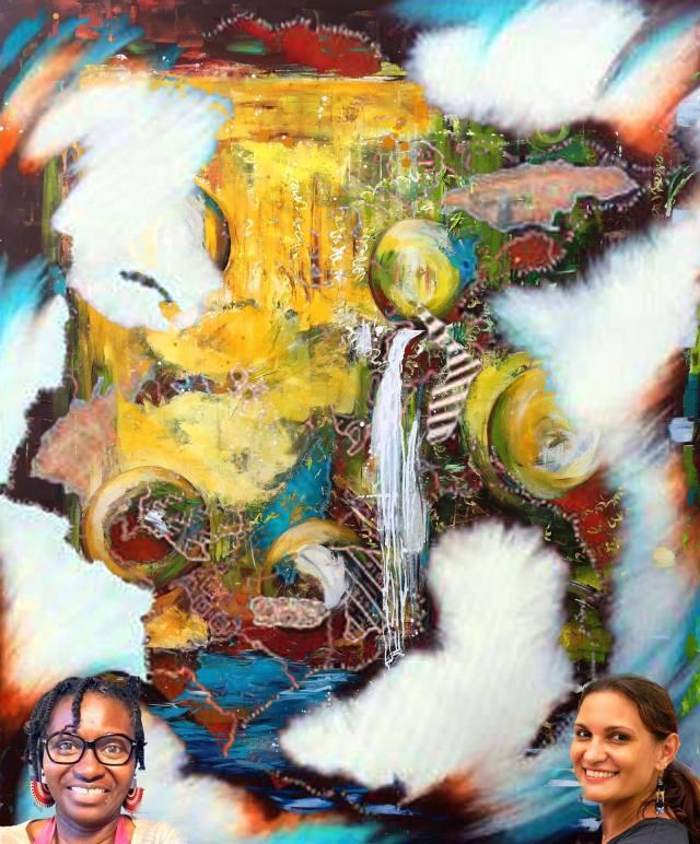 """""""Exubérance Afro-Caraïbe"""", une exposition de peinture de Aya N'da et Prisca Toulon du 03 au 24 mars 2017 à la bibliothèque Schoelcher de Fort-de-France (Martinique)"""