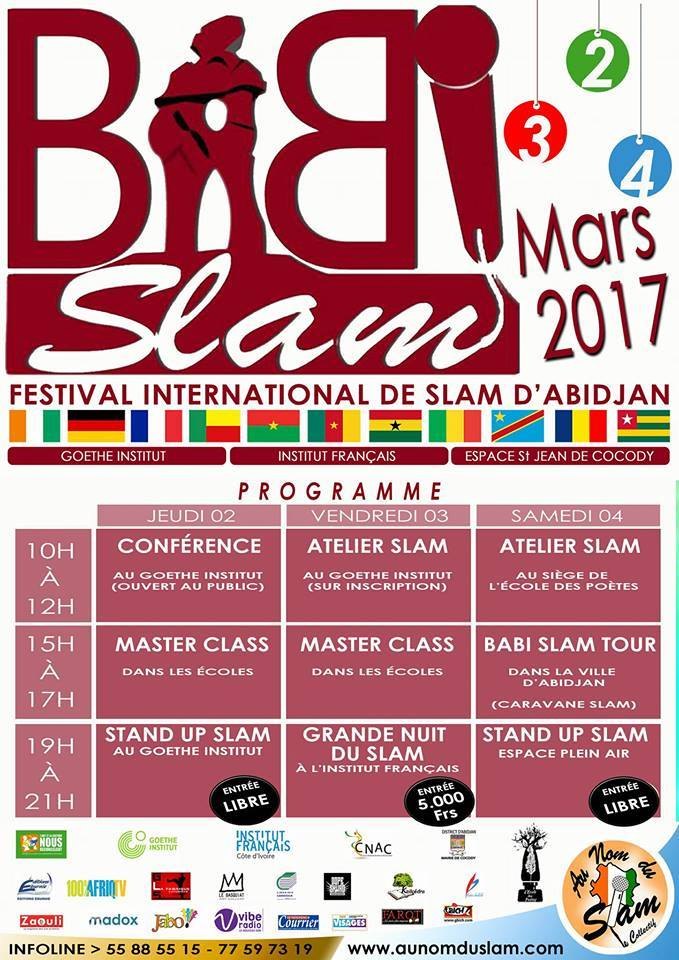Babi Slam Festival - du 2 au 4 mars 2017 à Abidjan (Côte d'Ivoire)