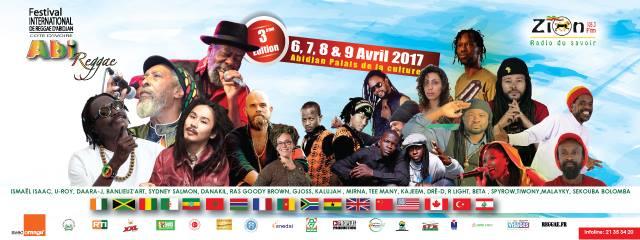 Abi Reggae 2017 – Du 6 au 9 avril 2017 à Abidjan 2017
