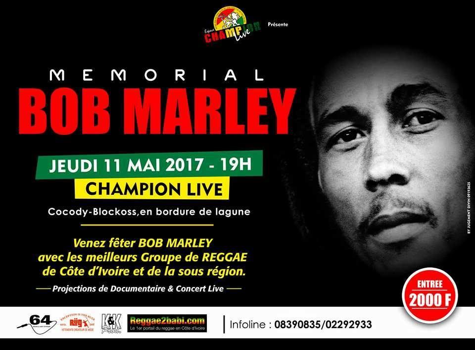 Hommage à la mémoire Bob Marley