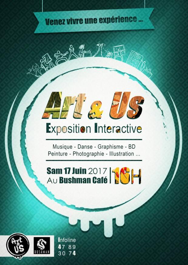 Art & Us – Exposition Interactive le 17 juin 2017 dès 16h au Bushman Café (2)