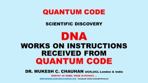 DNA receives instruction from Quantum Code