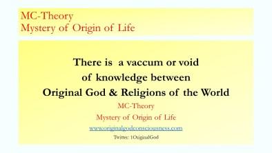 Vacuum between religions & Original God