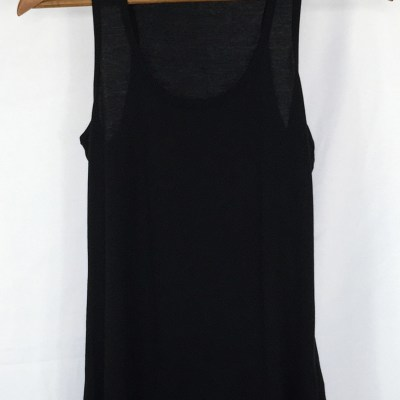Organic Cotton Fitted Tank Top - Black Racerback Tank Top - Organic Cotton Clothing UK