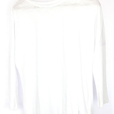 Organic Cotton 3/4 Sleeve Top - White Top - Ethical Clothing Brands UK