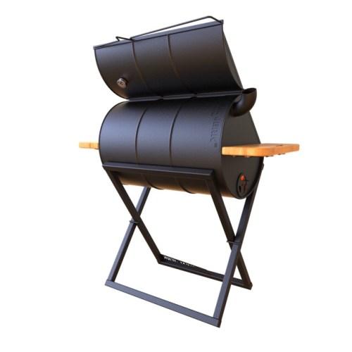 J Cut oil drum BBQ