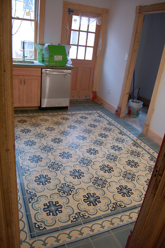 Cement Tiles Kitchen Floors Original Mission Tile