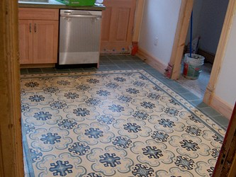 Cement Tiles Kitchen Floors