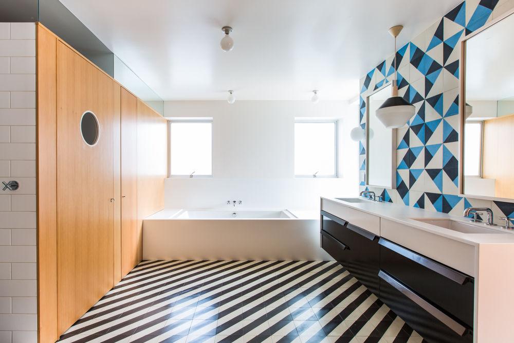 7 Bathroom Cement Tile Floors Design Ideas