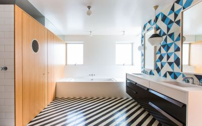 7 Bathroom Cement Tile Floors Design Ideas
