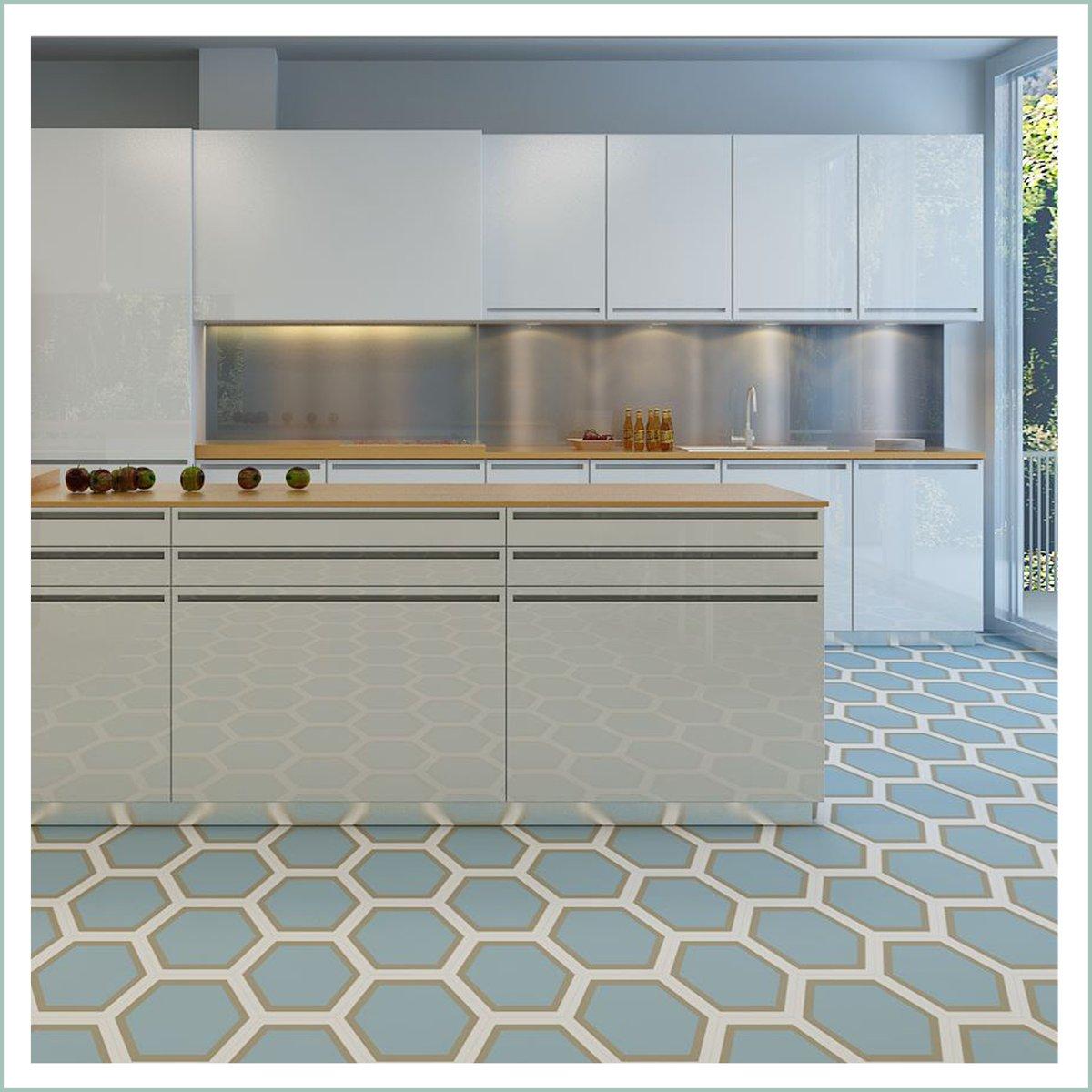 Kitchen Design Ideas With Hexagon Kitchen Floor Tiles