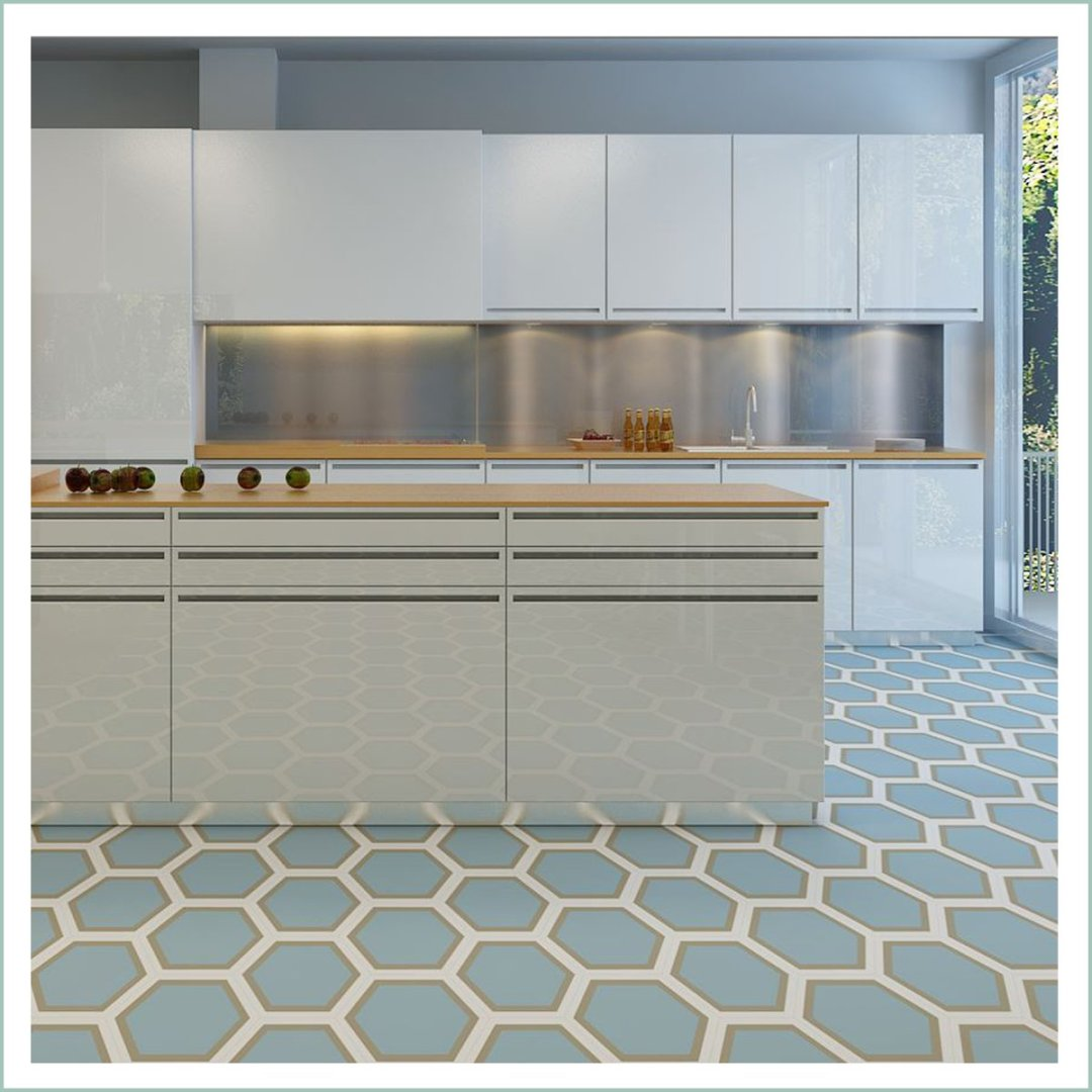 Hexagon Kitchen Floor Tiles