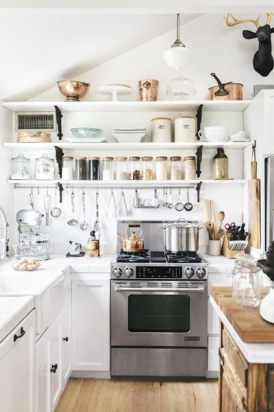 Open Shelf White Kitchen