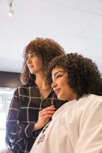 Two women in the Original Moxie Salon.