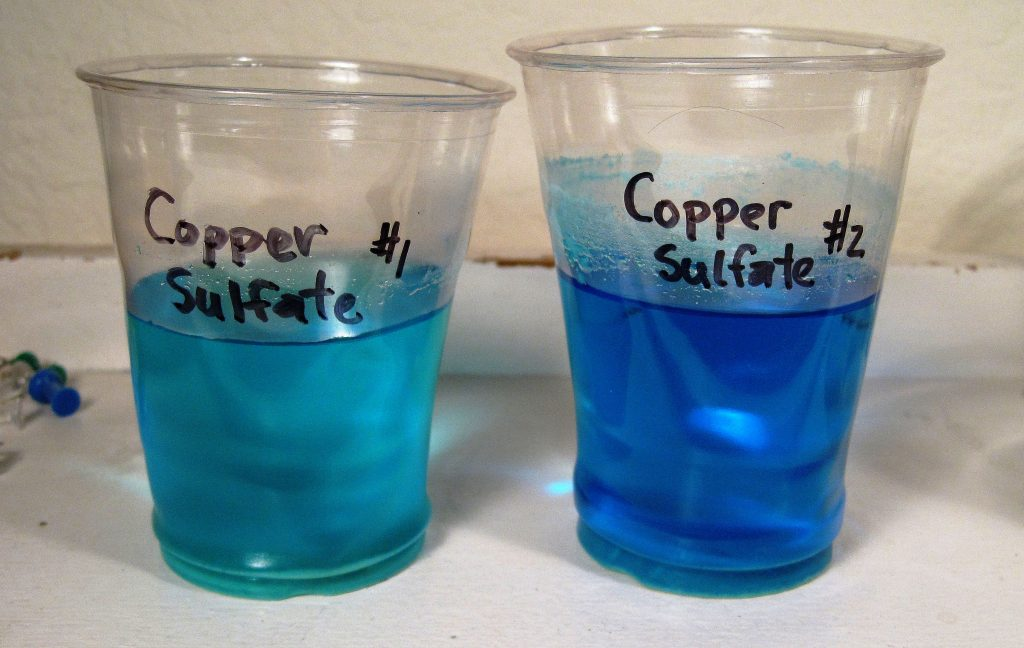 How to grow crystal from copper