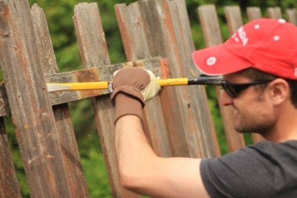 Removing fence board