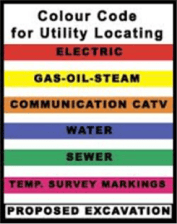 Colour codes for utility locating