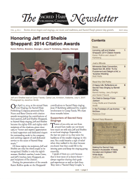 Printable version of the Sacred Harp Publishing Company Newsletter, Vol. 3, No. 1 (2.8 MB PDF).