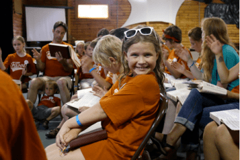 Campers enjoy Youth I Rudiments. Photograph by Jonathon Smith.
