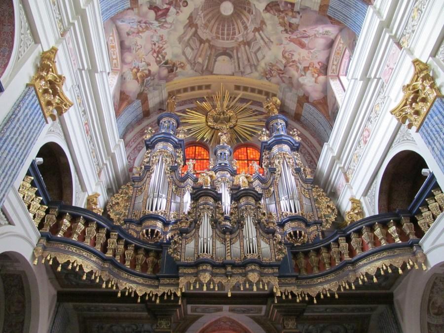 Organ detail, Pilgrimage Church Our Dear Lady of Swieta Lipka. Photograph by Linda Thomas.