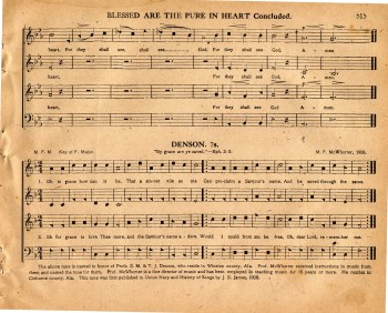 """Denson,"" from the 1911 Original Sacred Harp."