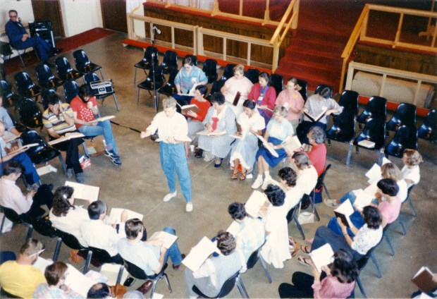 The class at the third Illinois State Convention, September 1987.