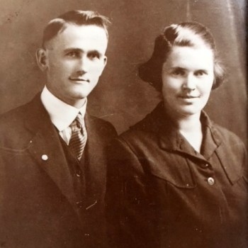 James T. (Jim) Fields and Dessie Brown Fields, 1921. Dessie Brown Fields' brother, Leman Brown, served on the Sacred Harp Publishing Company board of directors and was married to Ruth Burnham Brown.