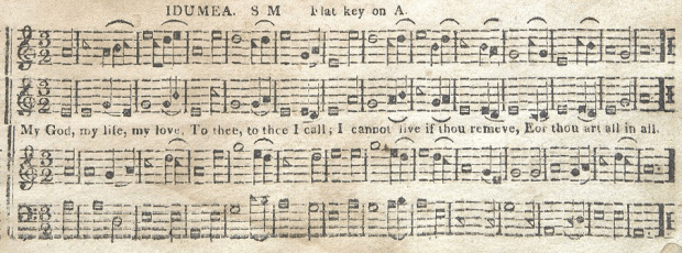 """Idumea"", as published in Kentucky Harmony (p. 33)"