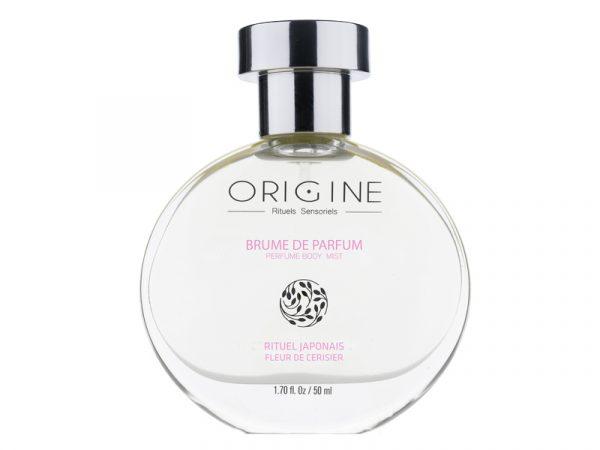 Brume de parfum naturel corps Origine spa fleur de Cerisier