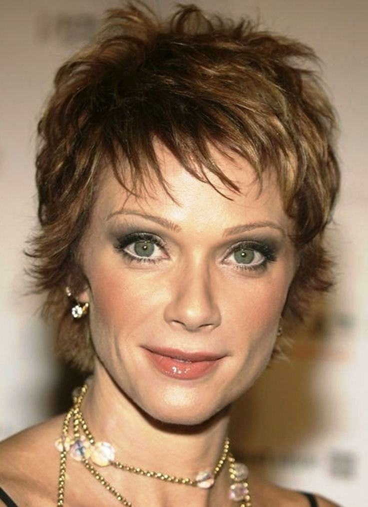 Short Hairstyle With Increased Length On The Crown For Women Over 50 ...
